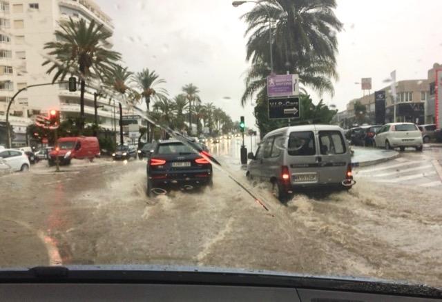 Marbella led 30 oktober nya översvämningar och nu väntas fler regnskurar. Foto: Carmen Téllez Valle