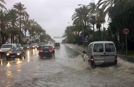 Skyfallen i oktober har orsakat flera tragedier på Costa del Sol. Fotot är från Marbella. Foto: Carmen Téllez Valle