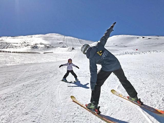 Omkring 60 procent av eleverna i Swedish Ski School är skandinaver.