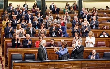 Ett av de senaste bottennappen i riksparlamentet var den påstådda spottloskan mot utrikesministern Josep Borrell.