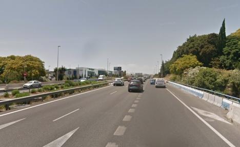 Kustvägen i höjd med Puerto Banús. Foto: Google Maps