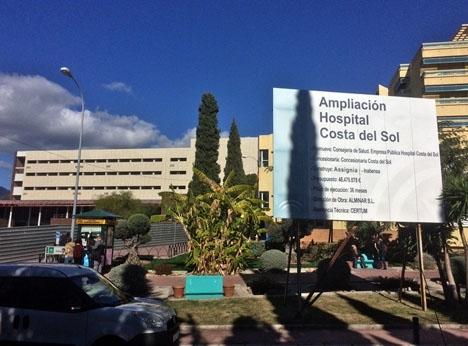 Utbyggnaden av sjukhuset Costa del Sol har stått still i åtta år.