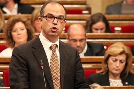 Jordi Turull från Junts pel Cat är en av de två häktade som annonserat att han hungerstrejkar. Foto: Generalitet de Catalunya