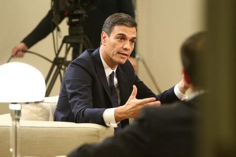 Pedro Sánchez gav 4 december en tv-intervju.