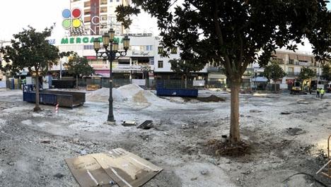Arbetet vid Plaza Costa del Sol har varit omfattande.