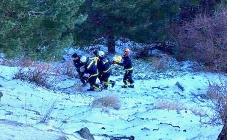 Bild från räddningsaktionen. Foto: Guardia Civil