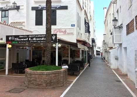 Skottlossningen inträffade utanför en nattklubb i centrala Puerto Banús, ARKIVBILD