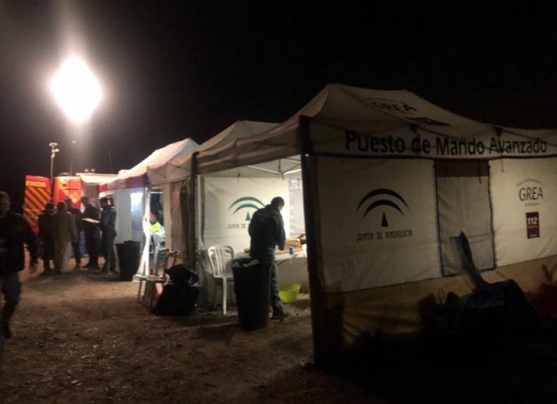 Räddningsarbetet pågår dygnet runt, i åttatimmarsskift. Foto: Emergencias 112