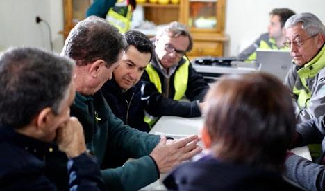 Den nya andalusiska regionalpresidenten Juanma Moreno, som själv är från Málagaprovinsen, besökte räddningsplatsen endast timmar efter att han 18 januari utnämndes till sin nya post. Foto: Junta de Andalucía