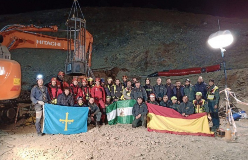 Mer än 300 arbetare från hela Spanien har deltagit i räddningsarbetet i Totalán och tusentals fler har uttryckt både solidaritet och empati. Foto: Guardia Civil