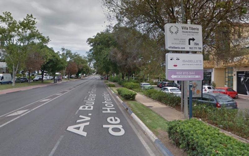 Det första gripandet skedde vid en poliskontroll på Avenida Principe Alfonso de Hohenlohe. Foto: Google Maps