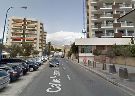 Händelserna utspelades sig 2015 utanför Hotel Las Pirámides. Foto: Google Maps