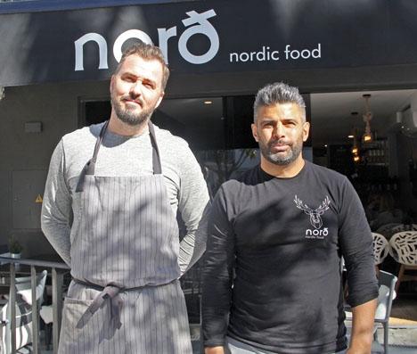Michael Leu och Aqil Mohammad öppnade i januari Nordt, som serverar nordiska specialiteter mitt i San Pedro Alcántara.