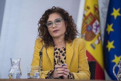 Skatteministern María Jesús Montero försökte förgäves övertyga kammaren om att anta budgetpropositionen för i år.