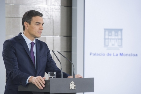 Pedro Sánchez kallade 15 februari till nyval, efter att regeringens budgetproposition röstats ned i parlamentet.