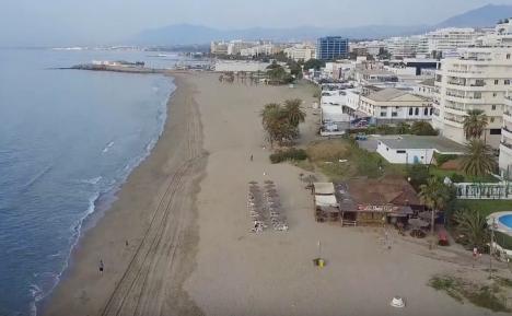 De två övertända restaurangerna ligger endast några hundra meter från varandra vid Playa del Cable.