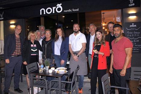 Deltagarna i Svensk-Spanska Handelskammarens After Work 5 mars på restaurang Nordt, i San Pedro Alcántara.