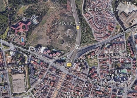 Olyckan inträffade efter tunneln vid Carlos Haya, i norrgående riktning. Foto: Google Maps