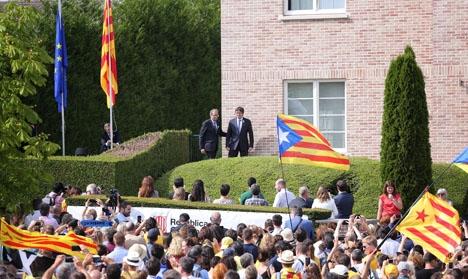 Carles Puigdemont bor numera i Waterloo i Belgien och kan ej återvända till Spanien utan att bli häktad. Foto Generalitat de Catalunya/Wikimedia Commons
