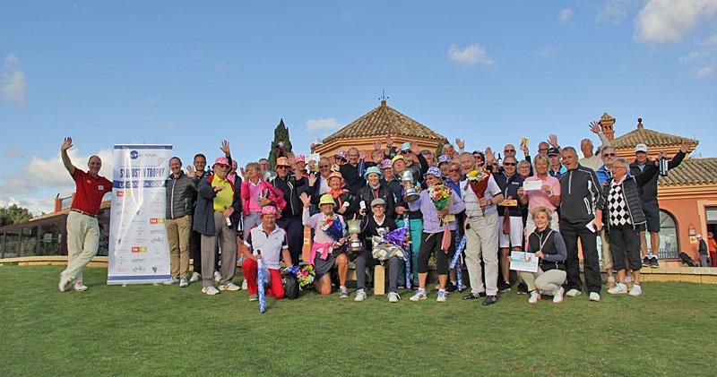 Pristagarna vid den 26:e upplagan av Sydkusten Trophy, som spelades 20 mars på La Cañada Golf.
