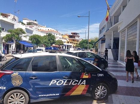 Brottet anmäldes hos Policía Nacional i Marbella.