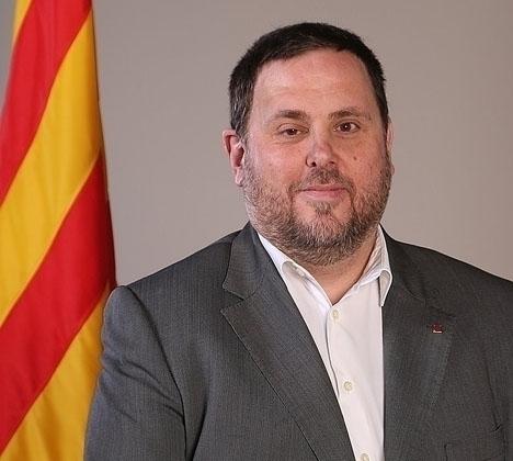 En av de häktade som ej kan deltaga i valkampanjen är ERC:s toppkandidat Oriol Junqueras. Foto: Generalitat de Catalunya