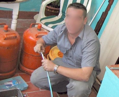 Många bedragare utger sig för att vara gaskontrollanter men i det här fallet uppgav tjuven att han kom från elbolaget. Foto: Morgan Skantz ARKIVBILD