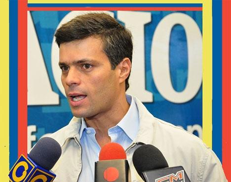 Oppositionsledaren Leopoldo López har lämnat sin husarrest och sökt skydd på Spaniens ambassad i Caracas. Foto: A.Davey/Wikimedia Commons