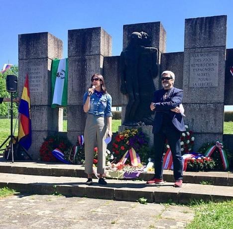 Arkivbild från en tidigare ceremoni vid minnesmonumentet till de spanjorer som dog vid Mauthausen. Foto: Diario de Madrid/Wikimedia Commons