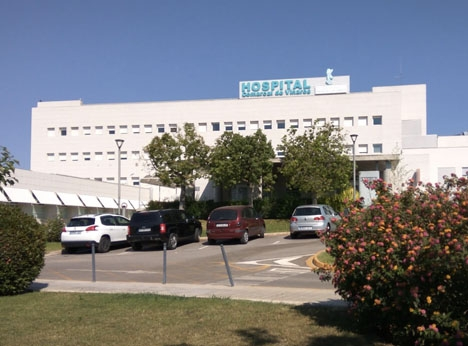 Tragedin inträffade vid landsortssjukhuset i Vinaròs. Foto: Google Maps