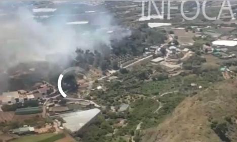 Branden uppgavs vid 14.30-tiden vara under kontroll. Foto: Infoca