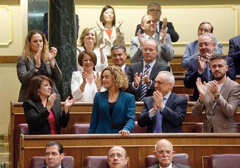 Tidigare ministern Meritxell Batet (PSOE) valdes i andra omröstningen till ny talman i parlamentet.