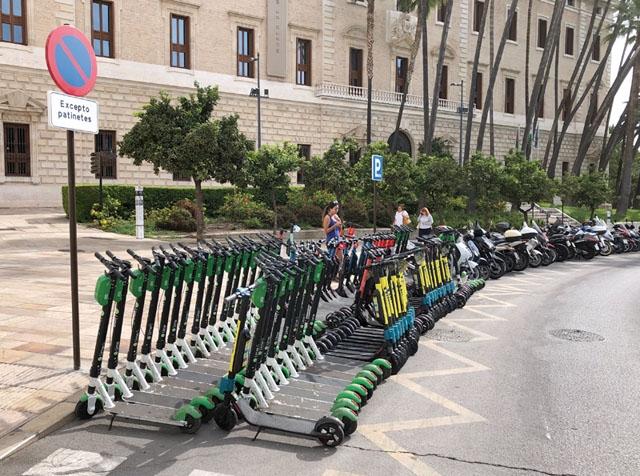 Sparkparkering i centrala Málaga.