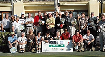 Det blev en tidig julafton för de många pristagarna på den tredje tävlingen i Jyske Bank/Sydkusten Trophy, 8 december på Los Naranjos Golf.
