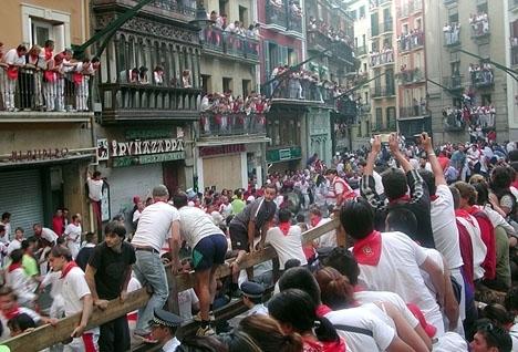 Gruppvåldtäkten utfördes under San Fermin-firandet i Pamplona 2016. Foto: Bernard bill5/Wikimedia Commons ARKIVBILD