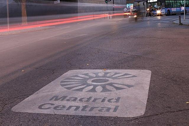 Madrid central återupptas efter ett domstolsbeslut. Foto: Thomas Holbach/Wikimedia Commons