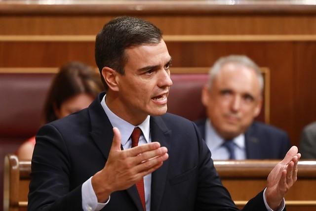 Pedro Sánchez är beroende av rösterna från Unidas Podemos om han ska bli omvald.