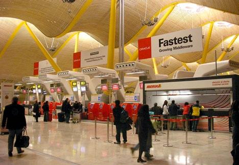 Madrids flygplats Barajas.