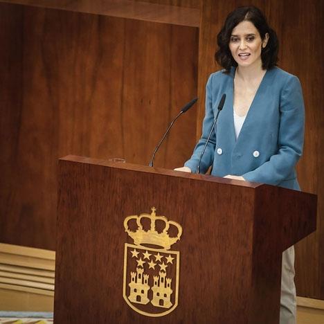 Isabel Díaz Ayuso (PP) valdes 14 augusti till ny regionalpresident i Madrid och kommer att regera i koalition med Ciudadanos.