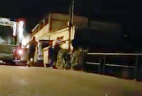 Videon som visar tilltaget har delats av aktivistgruppen Impulsa Ciudad.