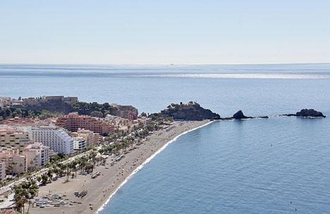 Det oväntade fyndet gjordes vid stranden San Cristóbal, i Granada.