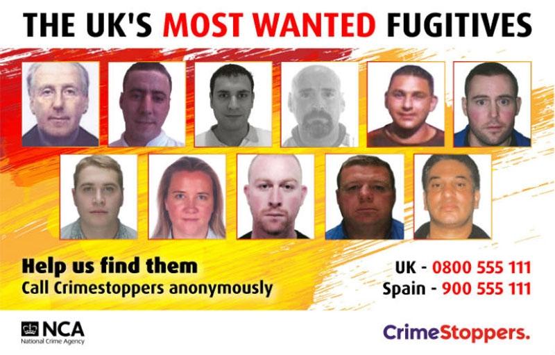 Den senaste efterlysningen omfattar elva britter som misstänks gömma sig i Spanien.