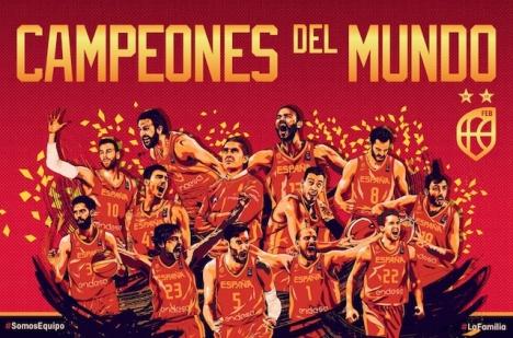 Spanska basketförbundets segeraffisch.