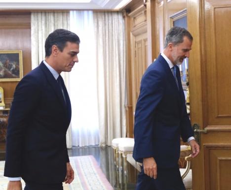 Kungen konstaterade efter ny mötesrunda att ingen kandidat i dagsläget kan erhålla tillräckligt stöd för att bli vald som regeringschef. Foto: Casa Real