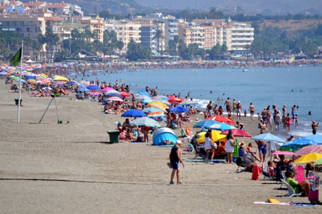 Även om antalet turister sjönk med knappt en procent i sommar var intäkterna större än förra året. Foto: Ayto de Estepona