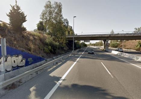 Kustvägen A7 öster om Marbella. Foto: Google Maps
