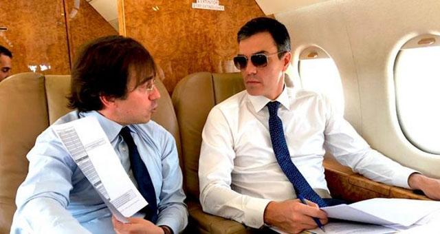 Oppositionen har tidigare kritiserat Sánchez för hur han använder presidentens privatplan.