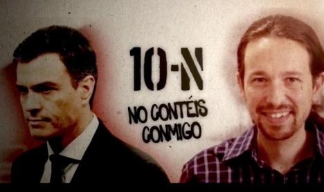 En kampanj som tillskrivs personer inom Partido Popular har försökt förmå vänsteranhängare att ej rösta på söndag.