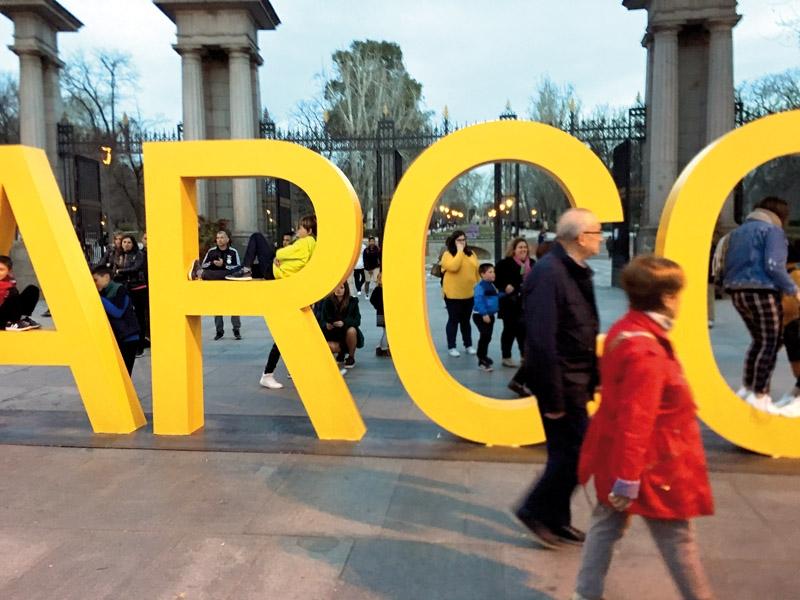 ARCO är den största och mest kända av de konstmässor som arrangeras i Madrid varje år, sista veckan i februari. Men det är långt ifrån den enda. Utbudet av mässor och andra konstevenemang är stort och varierat, liksom kvalitén. Foto: Mattias Tönnheim