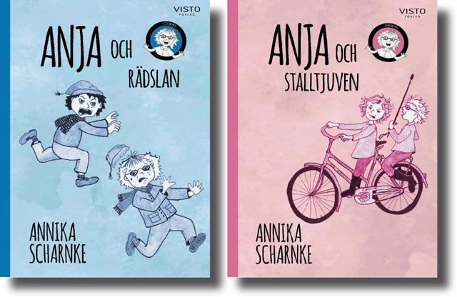 Författaren har skrivit barnböckerna om Anja för sina sju barnbarn. De första två finns att köpa på Costa del Sol från och med februari.